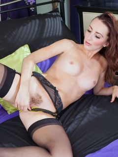 Sophia Smith spreads her hot ass in black nylons