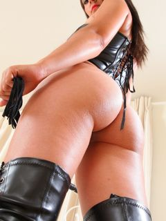 Adorable Bryoni Kate takes off her leather outfit