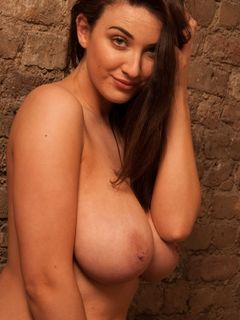 Joey Fisher strips and shows her sexy big tits