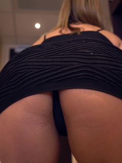 Ashley Rider upskirts and spreads her big fat ass
