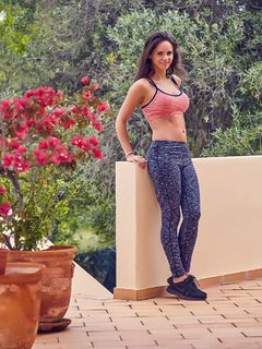 Adele Taylor teases in her top and tight pants