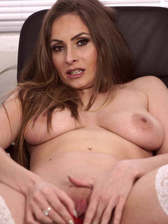 Sophia Delane gets her pussy warm with a dildo